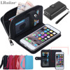 Lady Women PU Leather Zipper Handbag Wallet Purse With Card Slot Phone Case Cover For Apple