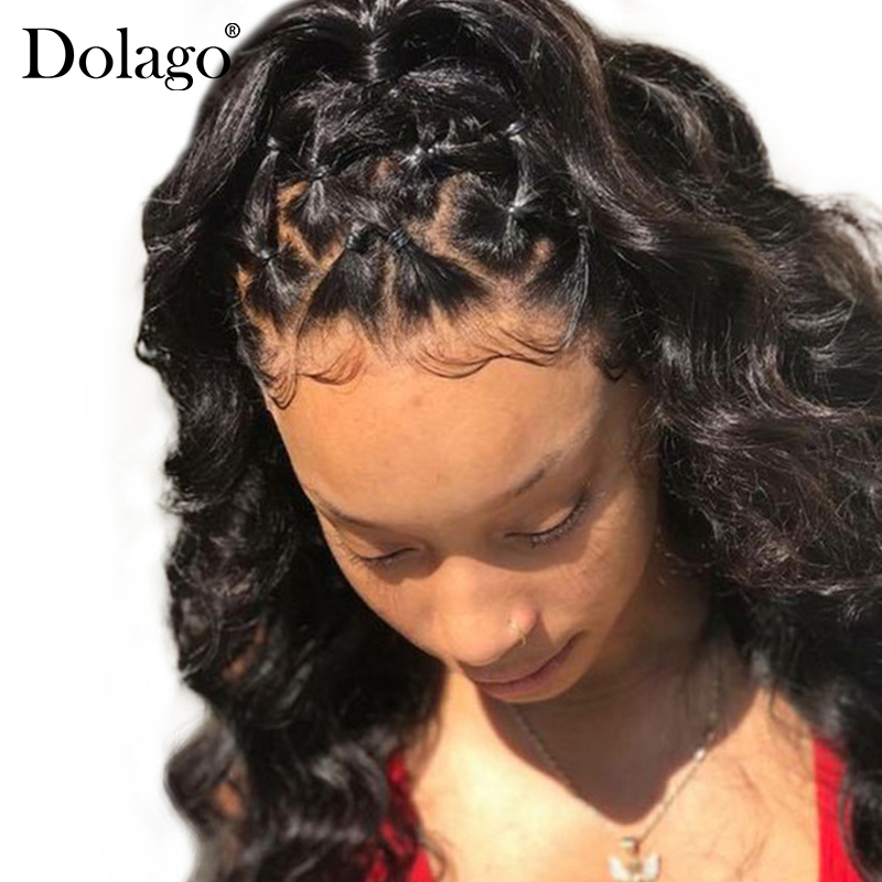 Loose Wave 360 Lace Frontal Closure Pre Plucked With Baby Hair Brazilian Remy Human Hair Natural Hairline Color Black Dolago