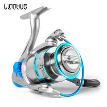 LINNHUE Spinning Reel 12BB+1 Stainless Steel 1000 6000 Right Left Hand Metal Coil Spool Ice Jigging Fishing Reel Spinning Pesca(China)