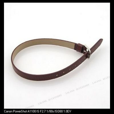 30x Coffee Flecky 7mm Band Buckle Imitational Leather Bracelet Charms Bracelet 160155
