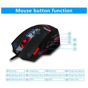 Image 5 - 12 chiave di programmazione mouse Jedi di sopravvivenza pistola senza sedile posteriore macro 4000dpi gaming mouse mouse wired mouse da gioco Con ponderata peso