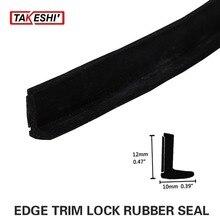 L Shape 472″ 1200cm Rubber Black Edge Trim Lok Camper Trailer RV Car Truck Camper Seal Strip adhesive Boat weatherstrip durable