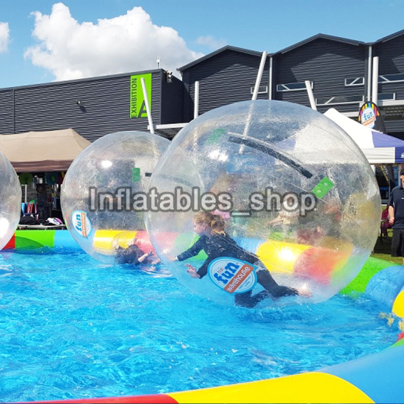Toy ball stress ball Inflatable Water Walking Ball 1.0mm TPU bubble Water Zorb Ball 2M Diameter Free Shipping