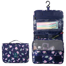 2862dfbca BONAMIE colgante bolsa de cosméticos para mujer moda caliente portátil de  viaje damas organizador bolsa Flamingo patrón de tigre.