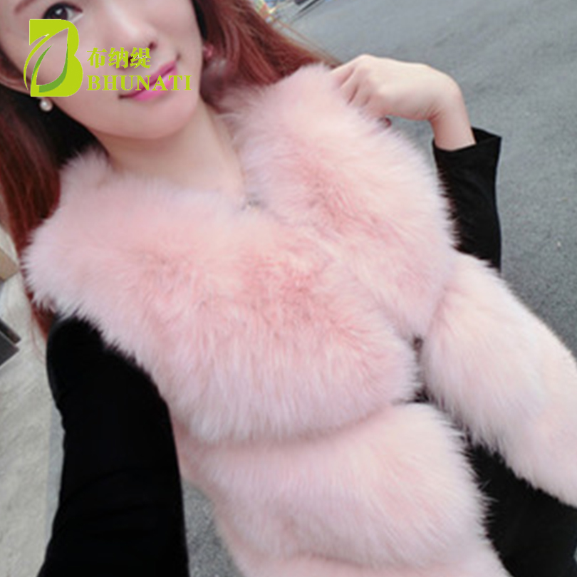 BHUNATI 2019 New Fashion Faux Fur Coat Winter Coat Women Waist Coat Fur Gilet Women 39 s Fur Jacket Fur Vest For Ladies in Faux Fur from Women 39 s Clothing