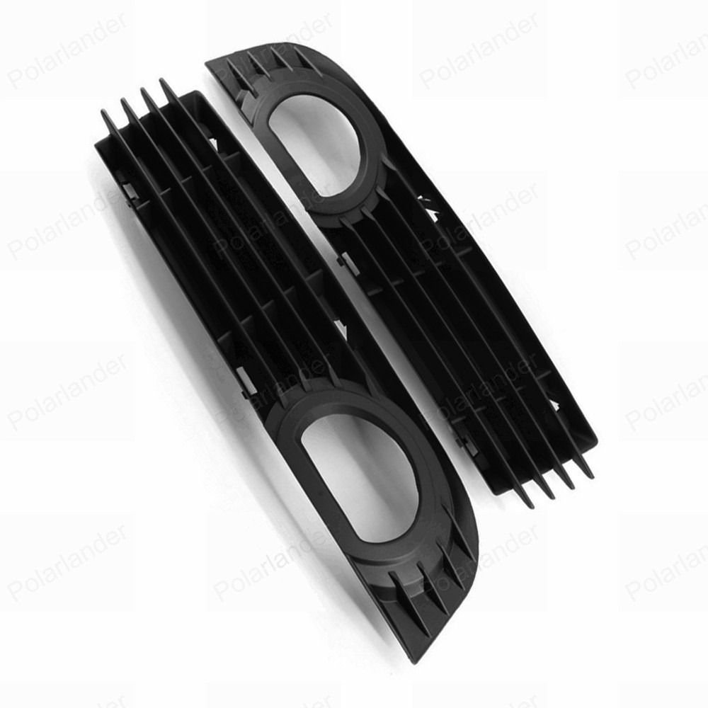 one pair Front Bumper Fog Light lamp Grille for A/udi A8 S8 Q/UATTRO D3 2006 2007 2008 Protective Covers Grill car front bumper mesh grille around trim racing grills 2013 2016 for ford ecosport quality stainless steel