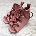 Cuero genuino Pink baby girl shoes