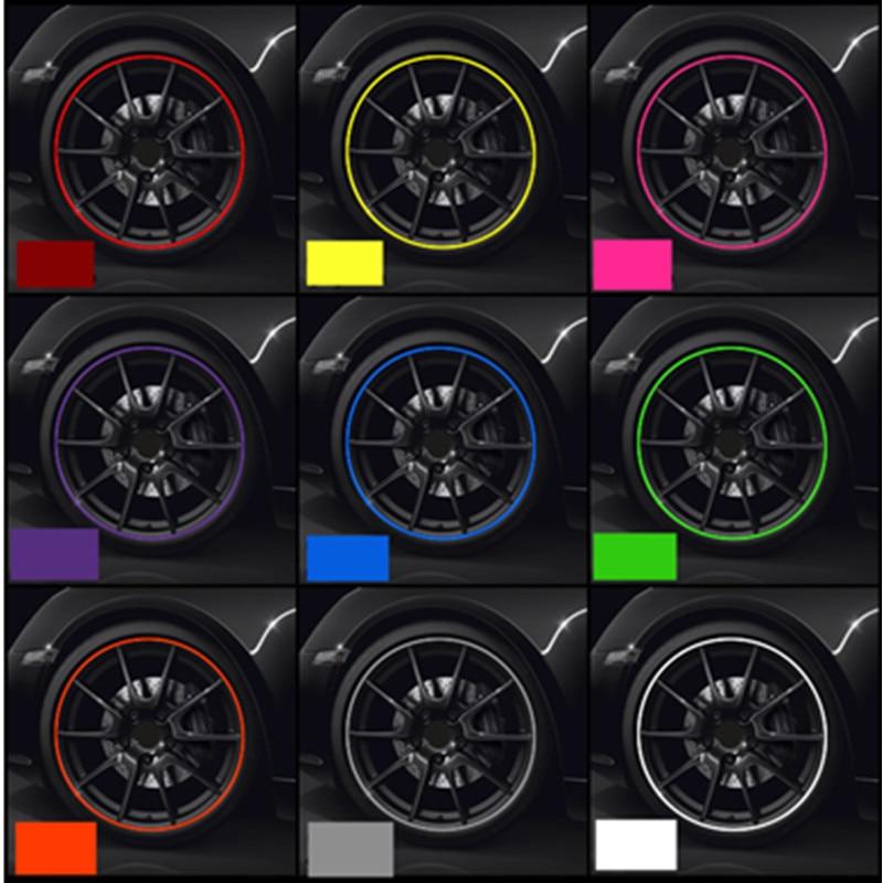 Pneu Da Roda de carro Hub Etiqueta Decoração Do Carro Tira Styling W211 W221 de Proteção de Pneus para Mercedes Benz 220 163 164 203 204 C E acessório