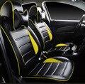 Productos personalizados 2016 auto suministro de cuatro temporada PU material de asiento de coche fundas de colchón 5 unids/set fundas de asiento de coche de estilo sencillo