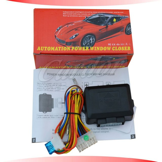 US $166Power Window kits is for car alarm system closing window module  working with car alarm system positie/negative trigger option-in Burglar