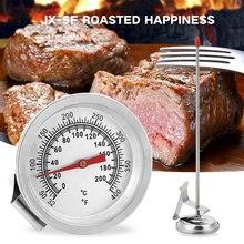Серебряный Зонд термометр еда бытовые инструменты для приготовления пищи кухня нержавеющая сталь барбекю