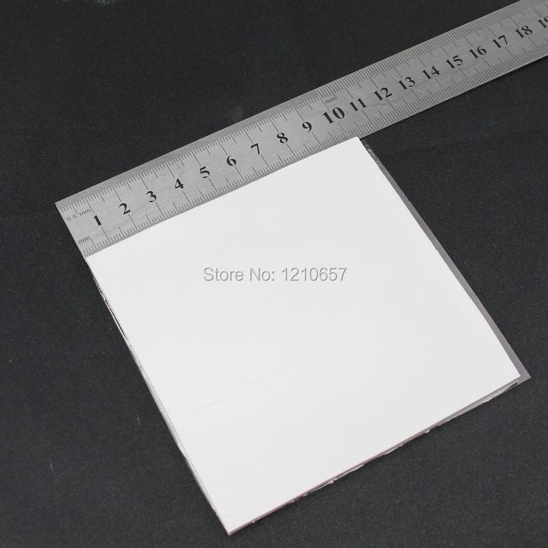 10Pieces lot White 100 x 100 x 1mm Silicone Thermal Pad For Heatsink Cooling Conductive GPU CPU gpu cpu heatsink cooling thermal conductive silicone pad 100mmx100mmx0 5mm