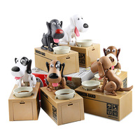 Mechanical Kid Coin Bank Box Catoon Puppy Hungry Robotic Dogs Money Saving Collection Piggy Box YH