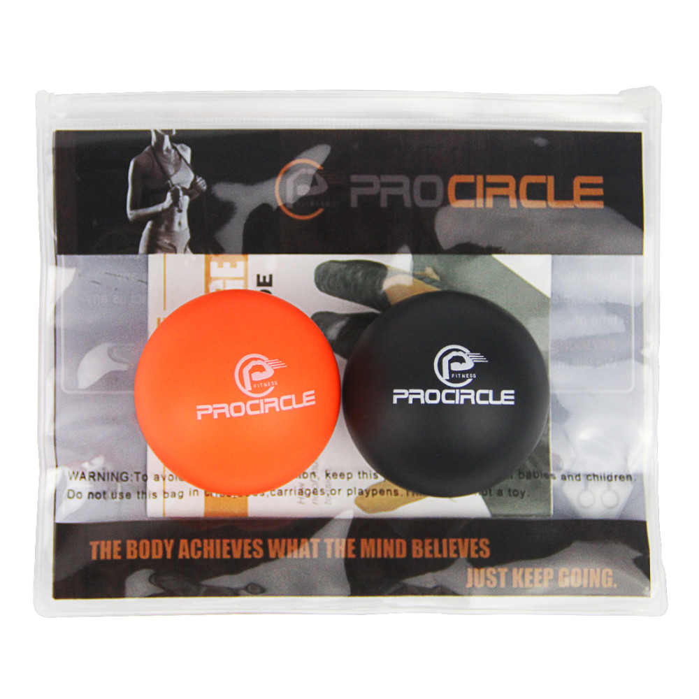 Lacrosse Ball Massage Set for Myofascial Release, Mobility & Physical Therapy - Great Neck & Foot Massage Balls