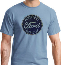 Powered By Ford American Retro Classic Sign Car Print Sport Stone Blue T-Shirt  Harajuku Fashion Unique free shipping