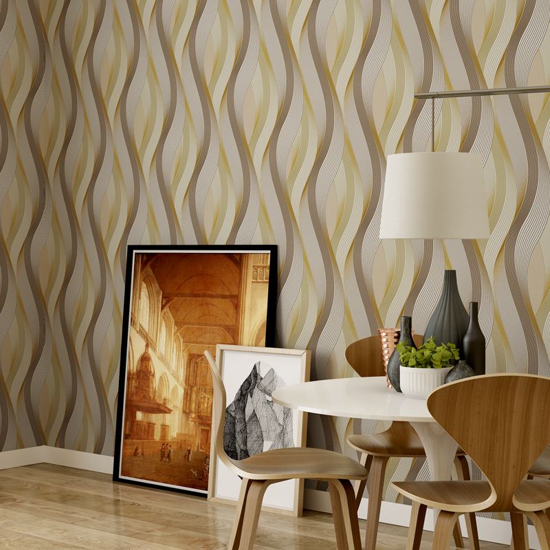 Wavy Fringe Abstract 3D Stripe Wallpaper Rolls for Living room 3d wall paper Sofa Background 3d wallcoverings 3d Papel de parede 3d papel de parede artificial bamboo wallpaper mural rolls for background 3d photo wall paper roll for living room cafe