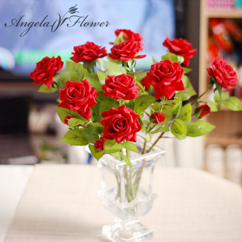 Aliexpress.com : Buy 1pcs 2 Heads Rose Artificial Decorative Silk Flowers  Real Touch Rose Home Decorations Wedding Bouquet Flowers From Reliable  Flower ...