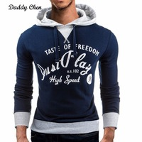 Daddy Chen 2017 Autumn Men Sudaderas Hip Hop Style Hombre Sweatshirt Mens Brand Letter Hooded Male