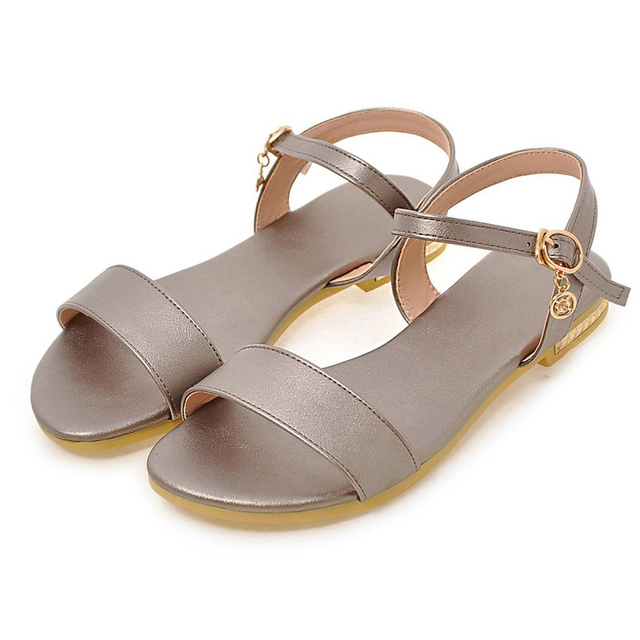 Women's Flat shoes sandal of buckled Leisure styles
