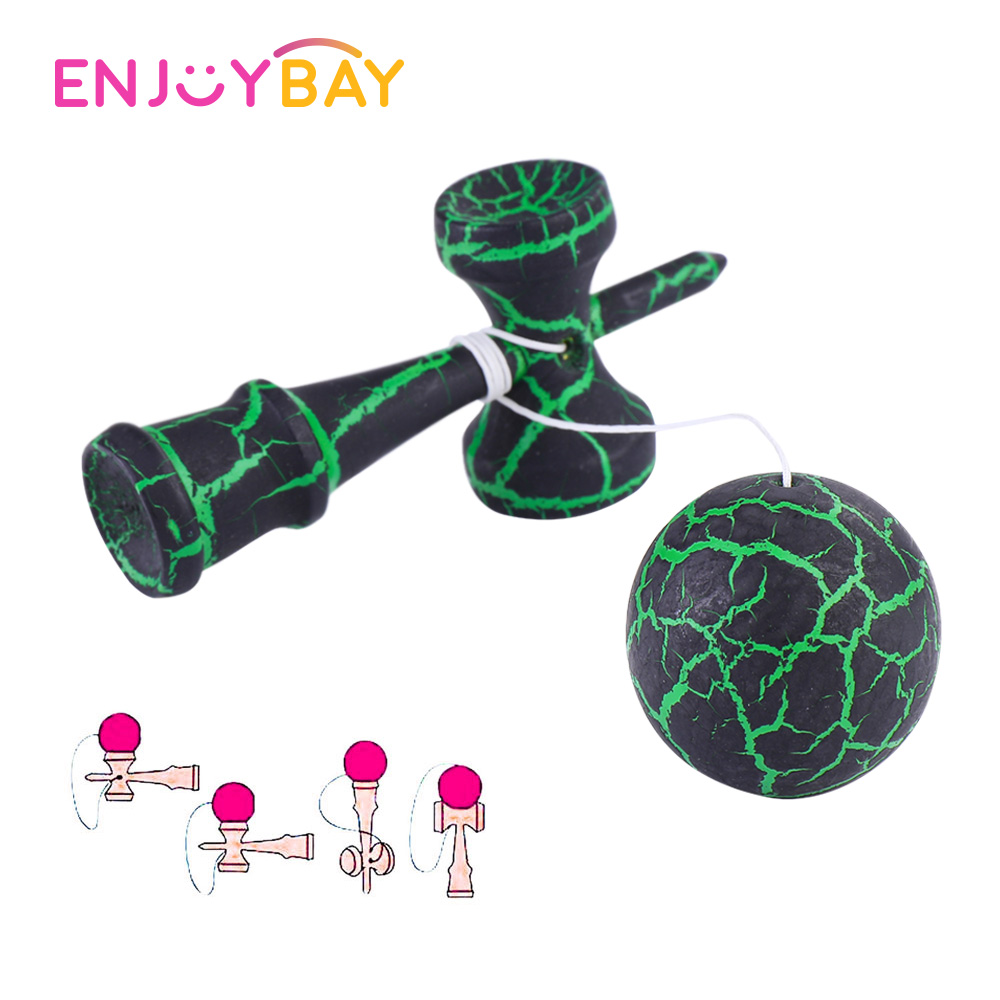 Enjoybay Kendama Sword Ball Wooden Toy Skillful Juggling Ball Game Professional Kendama Ball Indoor Outdoor Sports Toy For Kids
