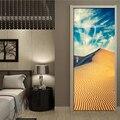 DIY 3D обои ПВХ самоклеющиеся водостойкие фото наклейки на дверь дезерты красивый вид двери росписи домашний Декор стикер на стену
