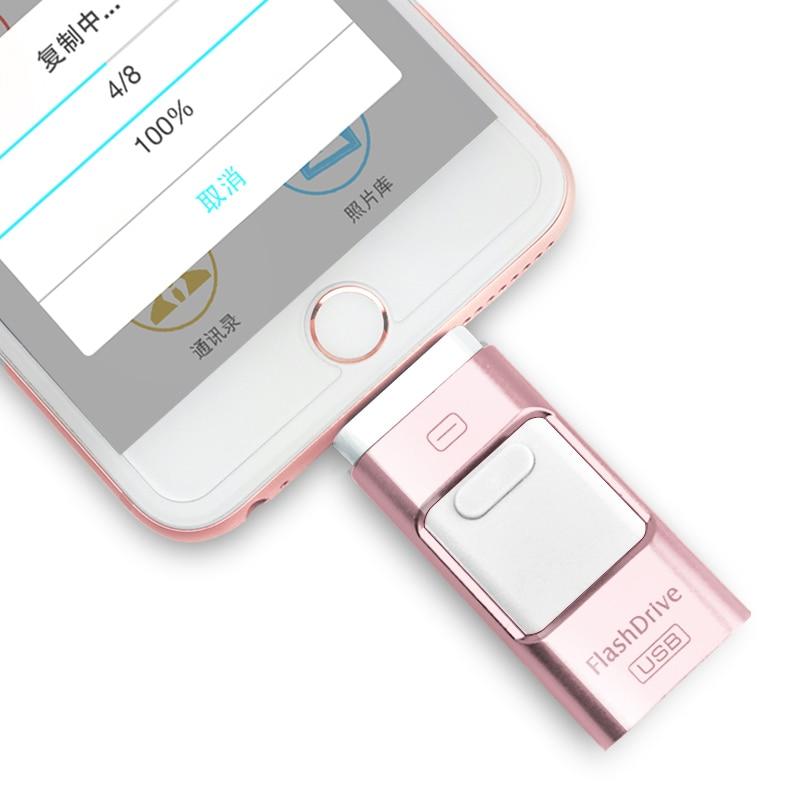 USB 3.0 Flash Drive For IPhone XS/X/8/7/7 Plus/6/6s/5/SE/ipad OTG Pen Drive HD Memory Stick 8GB 16GB 32GB 64GB 128GB Pendrive