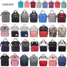Lequeen Fashion Mummy Maternity Nappy Bag Large Capacity Baby Diaper Travel Outdoor Backpack Diaper Nursing  Baby Care Leisure lequeen maternity diaper backpack large capacity nursing bag newborn infants stroller backpack baby care nappy mummy bag
