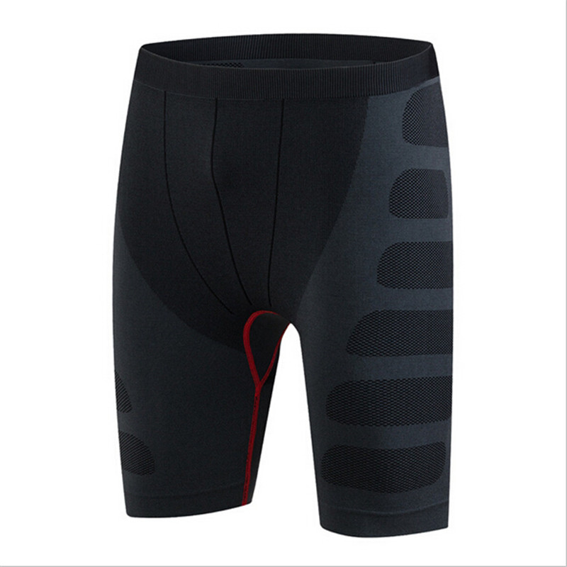 #6004 PRO Men Sports Running Training Bodybuilding Gym Compression Base Layers Thermal Tights Skins Shorts Male Plus Size M-XXL