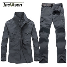 TACVASEN Men Military Clothing Tactical Uniforms Summer Quick Dry Shirts Cargo Pants Army Combat Suit Work Hunt Clothing Sets(China)