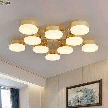 北欧シンプルなガラスled天井シャンデリア光沢ゴールド金属リビングルームledシャンデリア照明ledシャンデリアライト器具