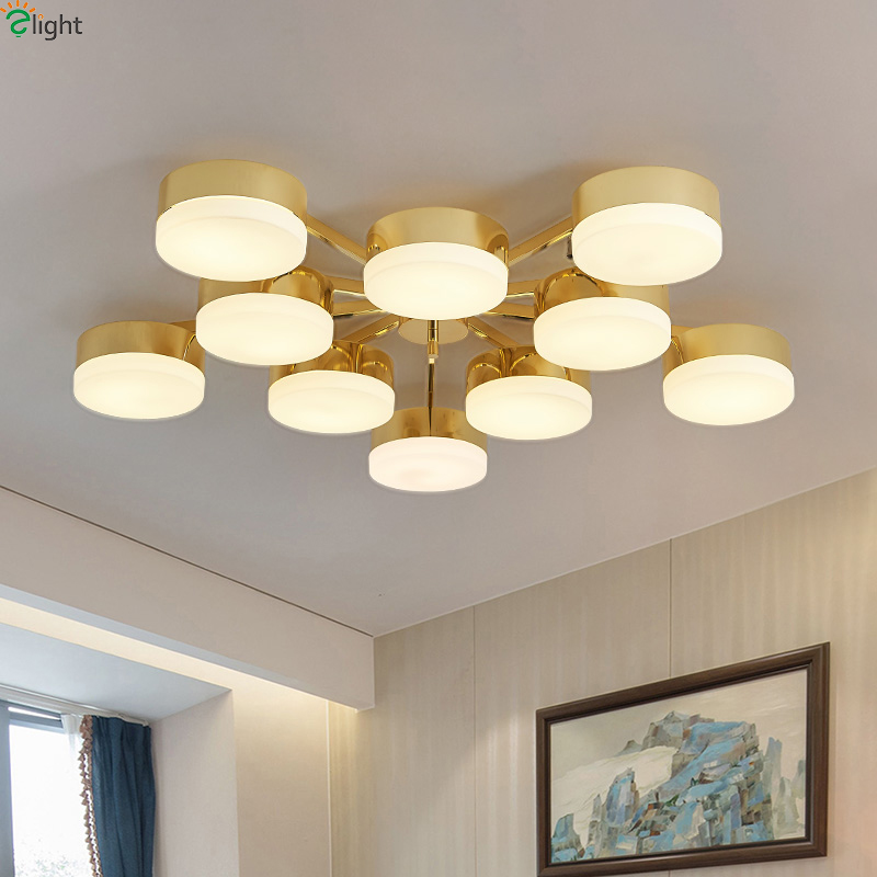 Nordic Simple Glass Led Ceiling Chandeliers Lustre Gold Metal Living Room Led Chandelier Lighting Led Chandelier Lights Fixtures