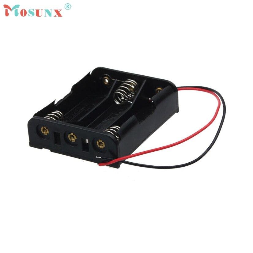 Mosunx 1pcs AA Power Battery Storage Case Plastic Box Holder With 3 Slots recargable Sept21 Drop Shipping MotherLander