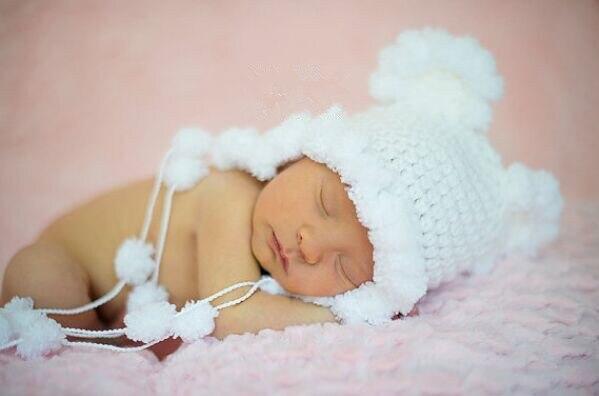 Blanc de neige bébé chapeau princesse fille bonnet en tricot/Nouveau,Né  mignon chapeau