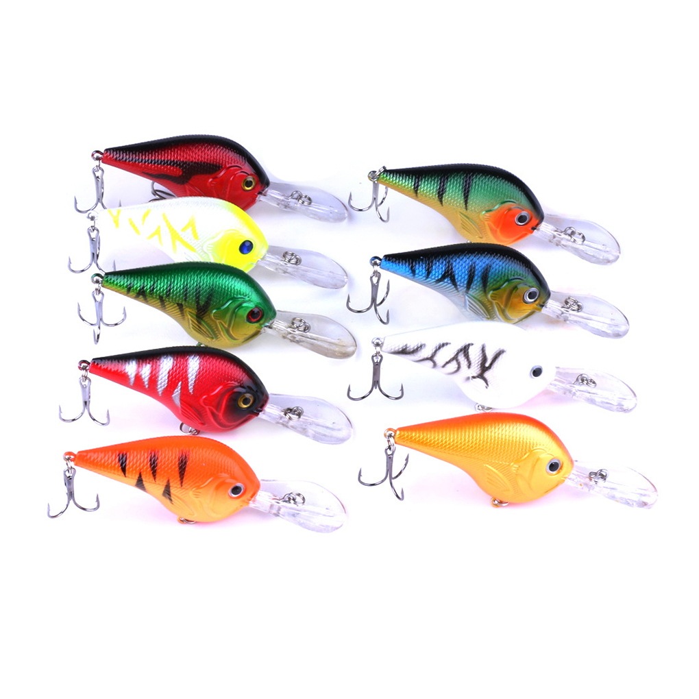 Simulation Rock Fishing Lure Deep Swimming Crankbait 9.5CM Hard Bait 9 Colors Wobbler Fishing Tackle