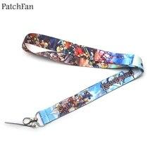 Patchfan Kingdom Hearts neck lanyards for keys glasses card holder bead keychain phones cameras webbing A0494