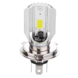 Image 4 - 1pc DC12V H4 LED Motorcycle Motorbike Headlight Bike White Fog Light Bulb Energy Saving Lamp 6 20W 77 x 42mm No Wiring