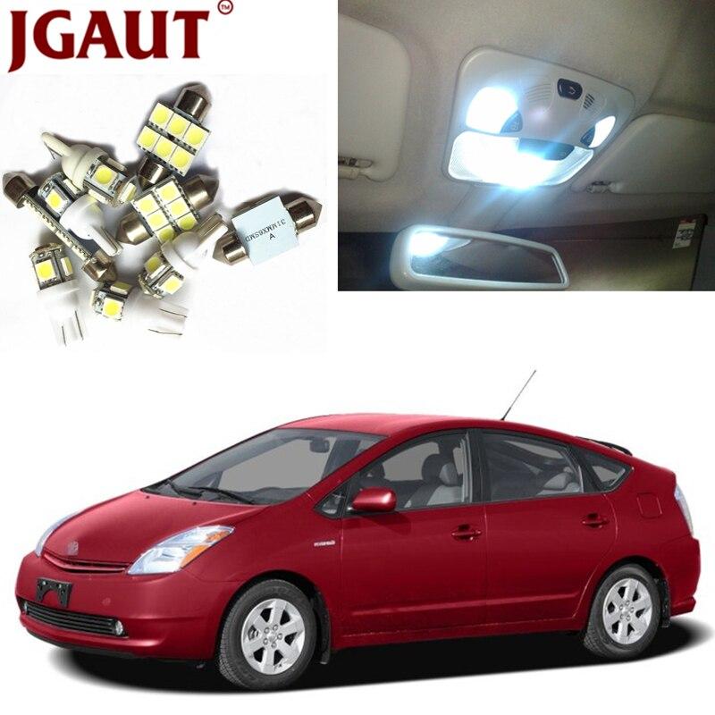JGAUT Pour 2004-2015 Toyota Prius Blanc Bleu Rouge LED Interior Package Kit Carte Dôme Licens Tronc/ cargo Étape/Courtoisie Lumière