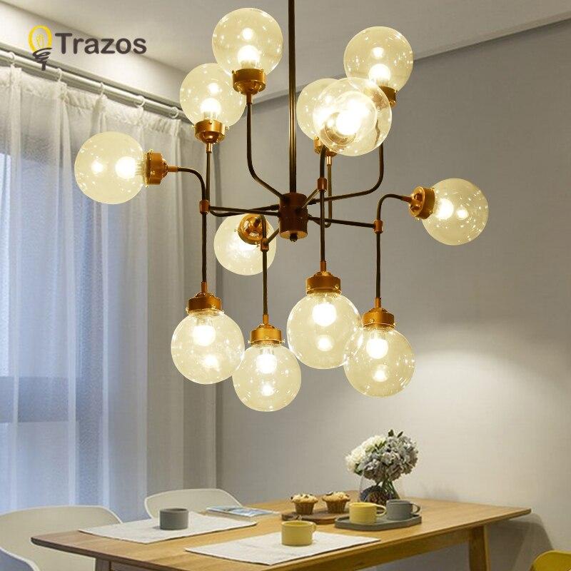 TRAZS moderne verre suspension lumière nordique salle à manger cuisine lumière Designer lampes suspendues Avize Lustre éclairage suspension
