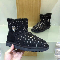 High Quality Snow Boots 2017 Winter New Diamond Shoes 100 Australian Natural Sheep Fur Boots Boots