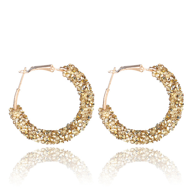 2018 Minimaslist Design Big Hoop Earrings For Women Crystal Blue Red Geometric Round Circle Earings Party.jpg 640x640 - Minimaslist Design Big Hoop Earrings For Women