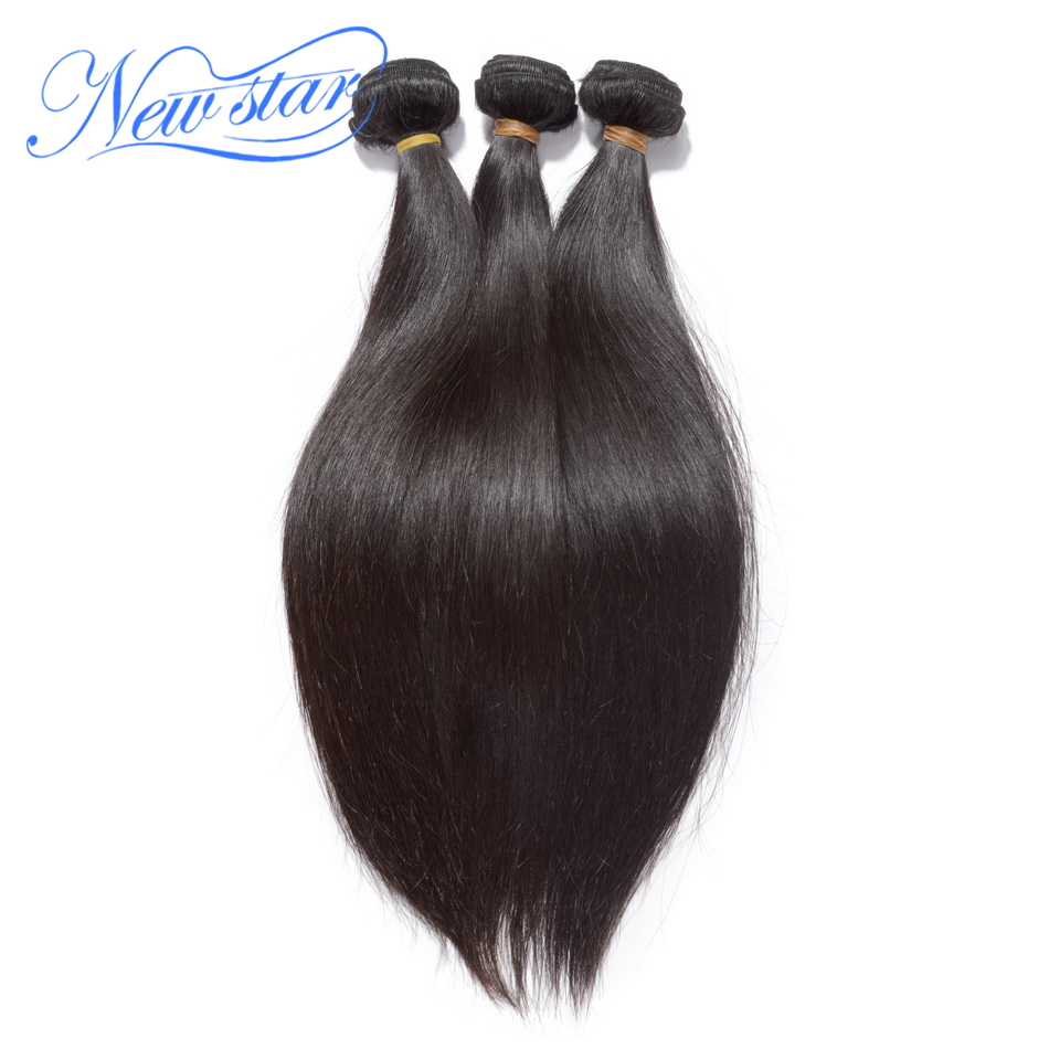 New Star Peruvian Straight Hair 3 Pcs Weft 100%Virgin Human Hair Extension Natural Color Thick Hair Bundles Weaving Free Ship(China)