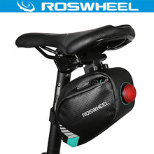 ROSWHEEL Waterproof MTB Bike Bag Bicycle Rear Saddle Seat Bag Led Light Cycle Cycling Bycicle Pannier Bags Bicycle Accessories