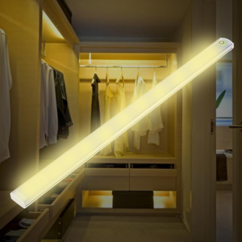 21LED 6W USB Touch Sensor Light LED Bar Lamp Ultrathin Closet Cabinet Lamp Night Light Reading Work Desk Kitchen lamp Light 30 55cm 6w usb led table lamp portable night light 2835 beside reading book work desk lamp 5v led rigid strip bar light