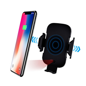 Image 3 - QI voiture chargeur sans fil capteur infrarouge support de montage charge rapide pour iPhone XS Max XR X Samsung Galaxy Note 10 9 S10 Plus S9 S8