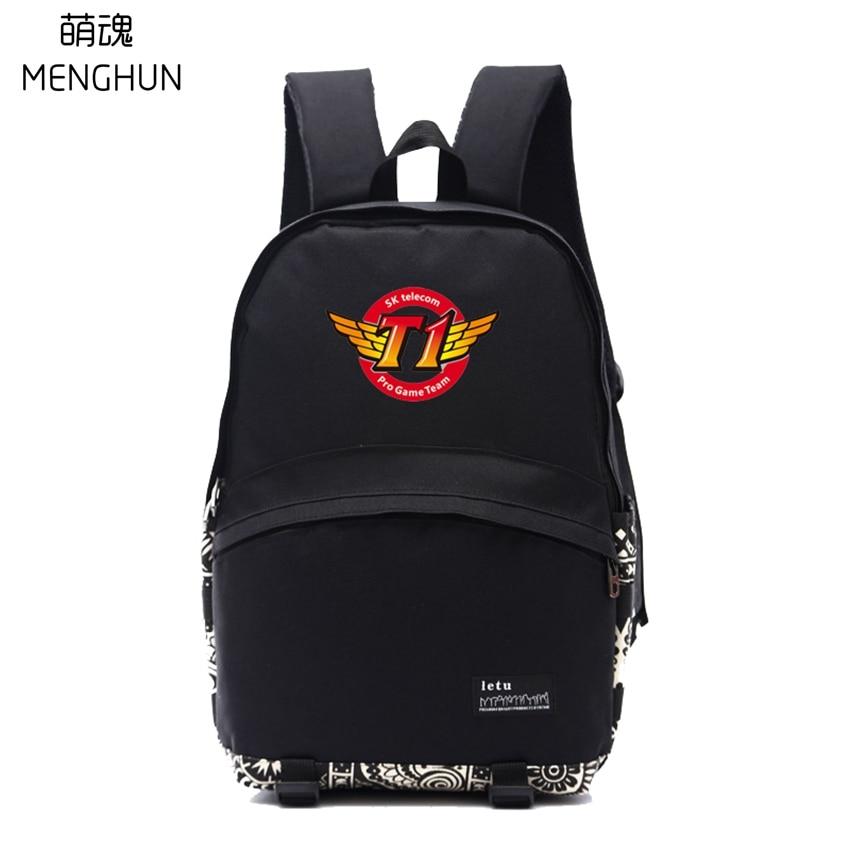 GAME fans backpack SK telecom T1 backpack SKT fans gift school backpacks student nylon backpacks NB226