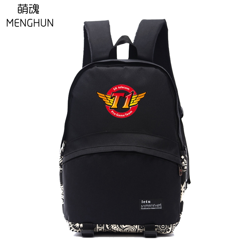 GAME Fans Backpack SK Telecom T1 Backpack SKT Fans Gift School Backpacks Student Nylon Backpacks NB226