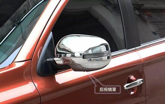 Coche de visión trasera cubierta del espejo, lado del espejo para outlander 2016, cromo del ABS, 2 pc/lot, envío libre