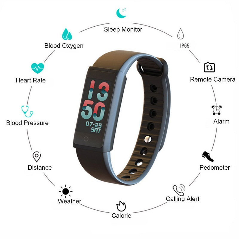 HEINO Y03S Smart Wristband Fitness Tracker Watch with Heart Rate Blood Pressure Monitor IP67 Activity Tracker Smart Bracelet