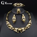 High quality Necklace Bangle Earring Ring Fine African jewelry sets Beads gold plating Dubai Plated Fashion Wedding women