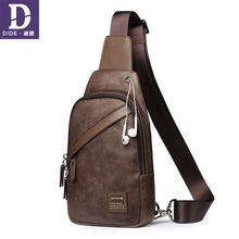 DIDE Chest Bag for Crossbody Mens Casual Messenger Shoulder Male ipad Leather Men Pack handbags